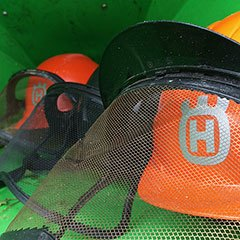 Tree surgeon's Orange safety hats